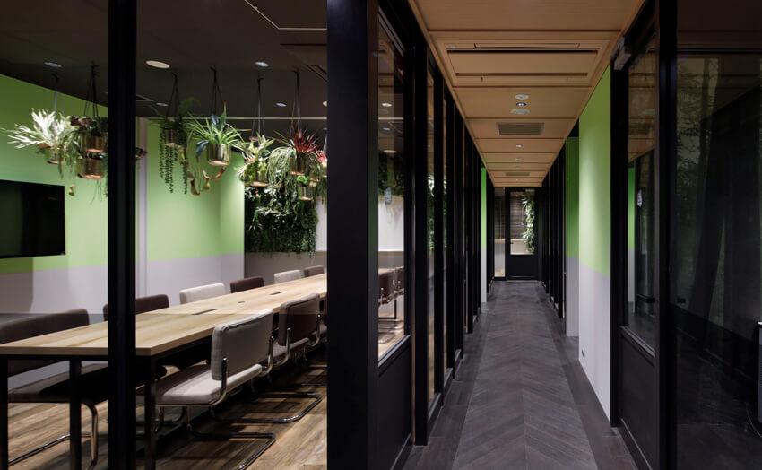 渋谷のコワーキングスペース「ワークコート渋谷松濤」3F FOREST GREEN